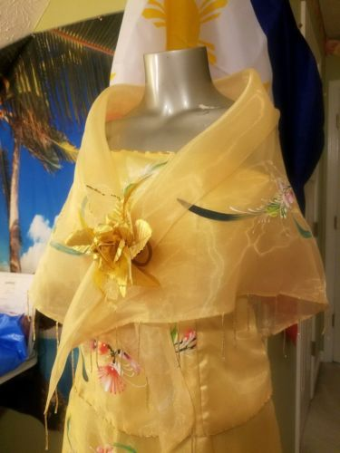 1bfdabb1b48 Filipiniana Gown – Gold – Pinay Boutique